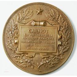 Médaille Carnot Président par l'assemblée en 1888 par A. DUBOIS