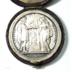 Médaille argent Mariage Chrétien attribuée 1843 par DEPUYMAURIN D.