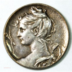 Médaille Art déco: Femme, enfant grappe de raisin par R.