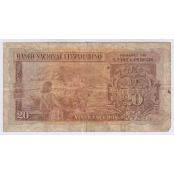 BILLET DU PORTUGAL 20 ESCUDOS 1958 L'ART DES GENTS NUMISMATIQUEAVIGNON