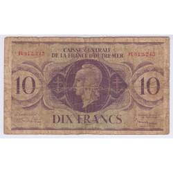 BILLET CAISSE CENTRALE DE LA FRANCE D'OUTRE MER- 10 FRANCS- L'ART DES GENTS AVIGNON