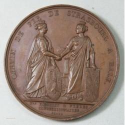 Médaille chemin de fer de Strasbourg à Bale (suisse) par BARRE