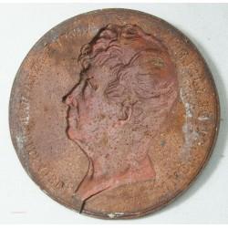 Médaille uniface Rouget de Lisle auteur Marseillaise 1833