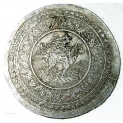 Médaille uniface en étain, Chien.... 61mm