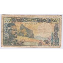 BILLET DE NOUVELLE CALEDONIE 500 FRANCS L'ART DES GENTS AVIGNON