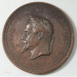 Médaille visite de Napoléon III à Lille en 1867 par J.C. Chaplain (2)