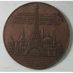 Médaille en Bronze Souvenir de l'ascention de la Tour Eiffel 1889