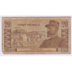BILLET DU CAMEROUN 20 FRANCS L'ART DES GENTS AVIGNON