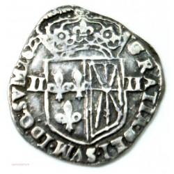 Royale Louis XIII, 1/4 d'écu de Navarre, 1612 Saint Palais TTB