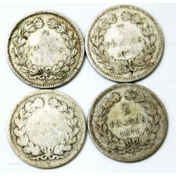 4 x 2 Francs Cérès sans légende