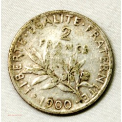 France moderne, 2 Francs semeuse 1900 rare