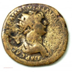 Romaine, As de trajan contremarque taureau, 116 Ap JC RIC.644