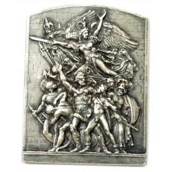 Médaille plaque 2e Congrès inter. assurances Paris Juin 1911