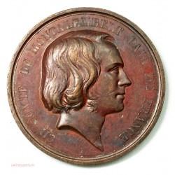 Médaille BELGIQUE, Comte de Montalembert, Pair de FRANCE 1838 par J. Leclerc