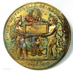 Médaille uniface exposition universelle de 1847 à Paris par H. Ponscarme