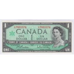 BILLET DU CANADA 1 DOLLAR 1967 NEUF L'ART DES GENTS AVIGNON