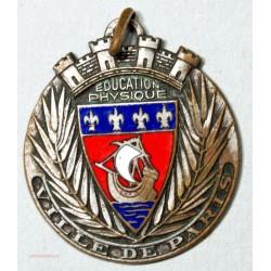 Médaille Education Physique, ville de Paris - Lys-