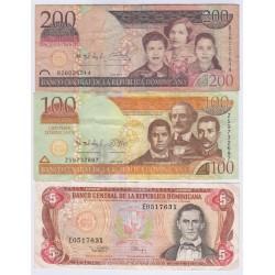 LOT DE 3 BILLETS REPUBLIQUE DOMINICAINE 305 PESOS L'ART DES GENTS AVIGNON