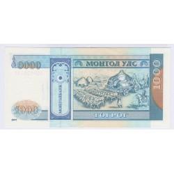 BILLET DE MONGOLIE 1000 TUGRIK P/NEUF L'ART DES GENTS AVIGNON