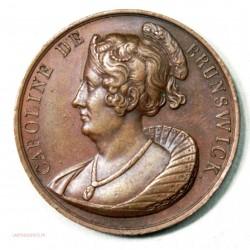 Médaille Caroline de Brunswisck (reine Angleterre 1728-1821)