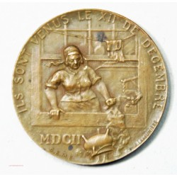 Médaille SUISSE Fête de l' escalade 1902 par S.E.M.E
