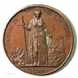Médaille visite de Napoléon III à Lille en 1867 par J.C. Chaplain (4)