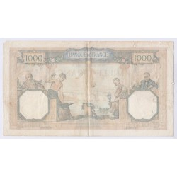 BILLET DE FRANCE CERES ET MERCURE 1000 FRANCS 1938 L'ART DES GENTS