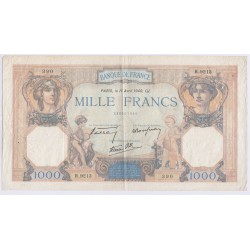 BILLET DE FRANCE CERES ET MERCURE 1000 FRANCS 1939 L'ART DES GENTS