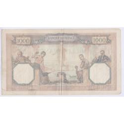 BILLET FRANCE CERES ET MERCURE 1000 FRANCS 1931 L'ART DES GENTS AVIGNON