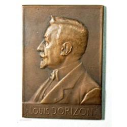 Médaille Plaque louis Dorizon 1910 par F. VERNON
