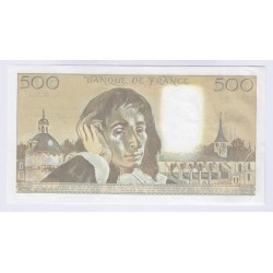 BILLET FRANCE 500 FRANCS PASCAL 1989 SPL+ L'ART DES GENTS AVIGNON
