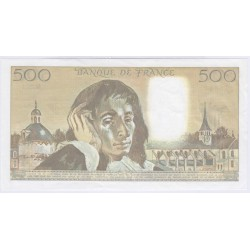 BILLET FRANCE 500 FRANCS PASCAL 1989 P/NEUF L'ART DES GENTS AVIGNON