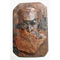 """Médaille plaque """"Viel homme, ouvrier"""" signé P.D"""