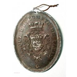 Médaille plaque Banque d'escompte de Paris, lartdesgents.fr Avignon