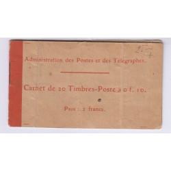 CARNET TIMBRES N°138-C-1 SEMEUSE CAMEE L'ART DES GENTS PHILATELIE