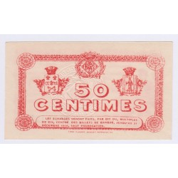 RARE 50 Centimes CHAMBRE DE COMMERCE de PERPIGNAN PAPIER EPAIX NEUF 24-06-1915