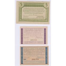 LOT DE 3 BONS DE SOLIDARITE PETAIN 1940 1944 NEUFS L'ART DES GENTS