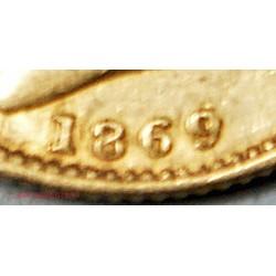 SOUVERAIN OR VICTORIA 1869 Double die