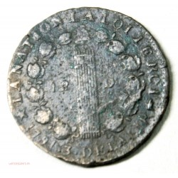 LOUIS XVI 12 deniers 1792 MA, TB+