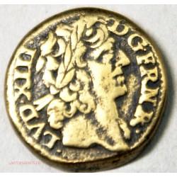 LOUIS XIII Poids monétaire 6 deniers 12 grains, Joli portrait