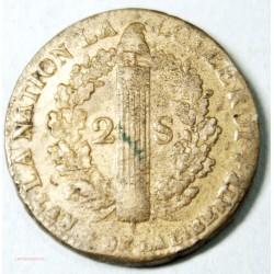 LOUIS XVI 2 SOLS 1792 W Lille, L'ART DES GENTS AVIGNON
