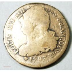 LOUIS XVI 2 SOLS 1793 BB STRASBOURG, L'ART DES GENTS AVIGNON