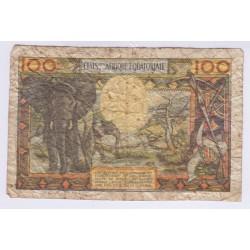 BANQUE CENTRALE DE L'AFRIQUE EQUATERIALE 100 FRANCS ND 1963 L'ART DES GENTS