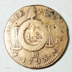 CONVENTION - SOL à la Balance 1793 BB Strasbourg