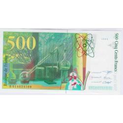 BILLET FRANCE 500 FRANCS PIERRE ET MARIE CURIE 1994 P/NEUF L'ART DES GENTS