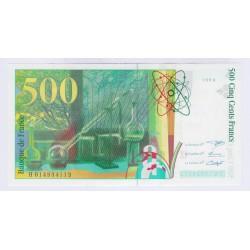 BILLET FRANCE 500 FRANCS PIERRE ET MARIE CURIE 1994 NEUF L'ART DES GENTS