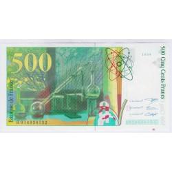 BILLET FRANCE 500 FRANCS PIERRE ET MARIE CURIE 1994 SUP L'ART DES GENTS