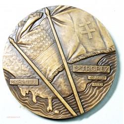 Médaille bronze, Les alliés débarquent dans le midi..par VEZIEN
