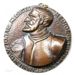 Médaille uniface Médiol. Marchio  Melegnani 1405 IO. IAC MEDICES