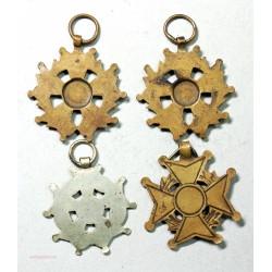 """Médailles """"au mérite"""" 4 différentes"""